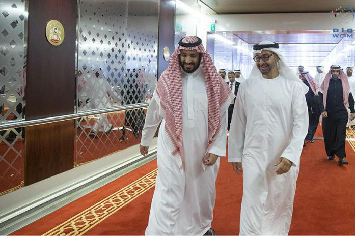 Photo: Mohammed bin Salman and Mohammed bin Zayed.